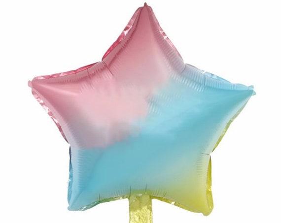 Rainbow Star Balloon | Ombre Star Balloon | Two The Moon | Space Birthday | Star Birthday Balloon | Happy Birthday Balloon | Foil Rainbow