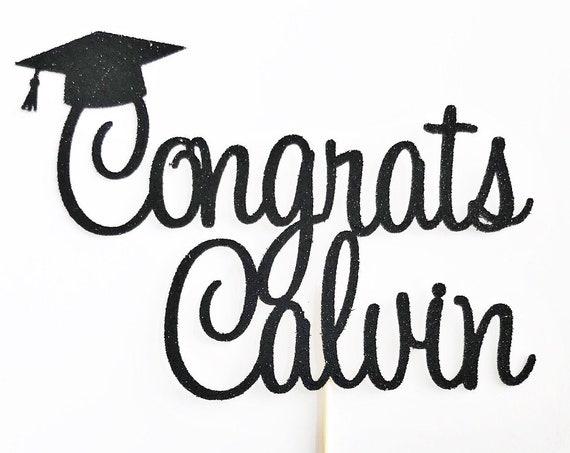 Graduation Cake Topper | Educated AF | Personalized Cake Topper| Graduation Party | High School Grad | College Grad | Custom Name Topper
