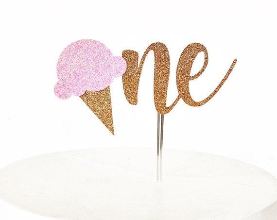 Ice Cream One Cake Topper | Sweet One Cake Topper | Ice Cream First Birthday | Smash Cake Topper | Ice Cream Decorations | Ice Cream Social