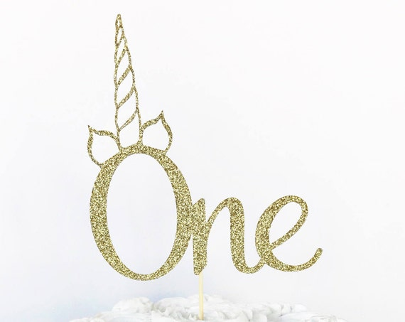 Unicorn One Cake Topper