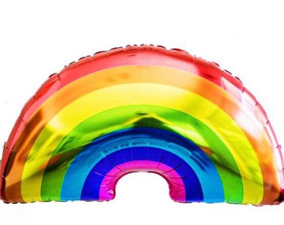 Rainbow Mylar Balloon / Rainbow Helium Balloon / Inflatable Rainbow / Giant Rainbow Foil Balloon / Rainbow Party Decor / St Patricks Day