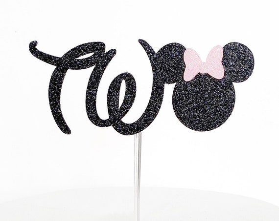 Minnie Mouse Two Cake Topper | Number 2 Cake Topper | Oh TWOdles | Second Birthday | 2nd Birthday Cake Topper | Two Years Old | Minnie Mouse
