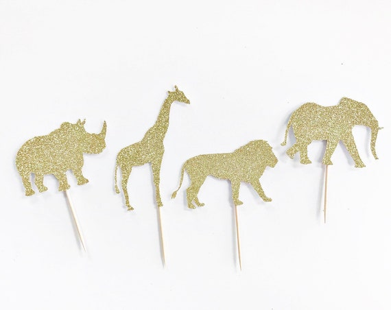 Safari Cupcake Toppers / Safari First Birthday / King of the Jungle / Zoo Animal Cupcake Toppers / Safari Theme / Safari Decorations