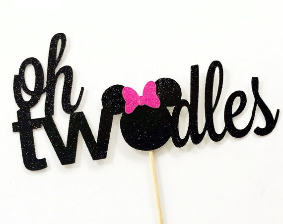 Oh TWOdles Cake Topper / Minnie Mouse Second Birthday / 2nd Birthday Cake Topper / Two Cake Topper / Disney Party / Oh Toodles / 2 Years Old
