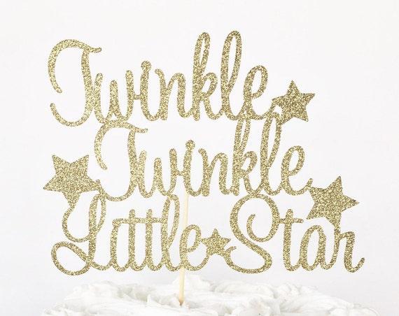 Twinkle Twinkle Little Star Cake Topper / Gender Reveal Cake Topper / Gender Reveal Party / Baby Shower Cake Topper / Gender Neutral