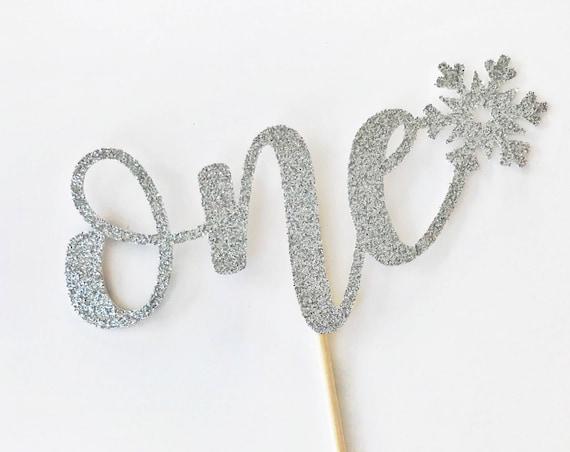 Winter ONE derland Cake Topper / Winter First Birthday / One Cake Topper / Little Snowflake / Winter Cake Smash / Winter 1st Birthday Decor