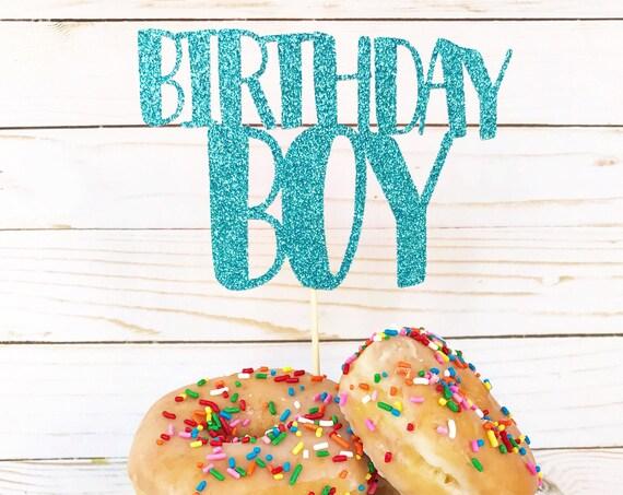 Birthday Boy Cake Topper / Happy Birthday Cake Topper / Birthday Party Decorations / Boy Birthday / First Birthday / Smash Cake Topper