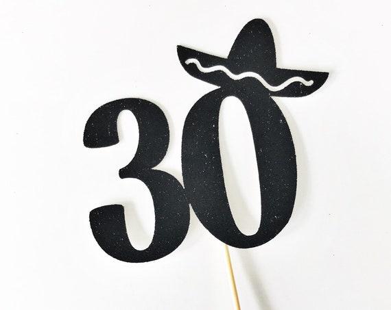 30th Birthday Fiesta Cake Topper