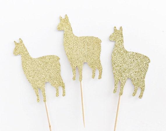 Llama Cupcake Toppers / Llama Party Decorations / Llama Baby Shower / Mama Llama / Ooh La Llama / Llama Food Picks / Llama Theme