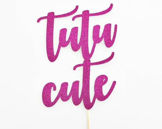 Tutu Cute Cake Topper / Baby Shower Cake Topper / Ballerina Cake Topper / Birthday Cake Topper / Baby Shower Cake Topper / Tutu Topper