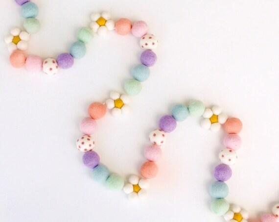 Rainbow Daisy Garland