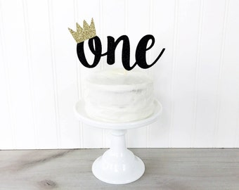 One Cake Topper With Crown / Where The Wild Things Are Cake Topper / First Birthday / One Smash Cake Topper / Wile One Cake Topper