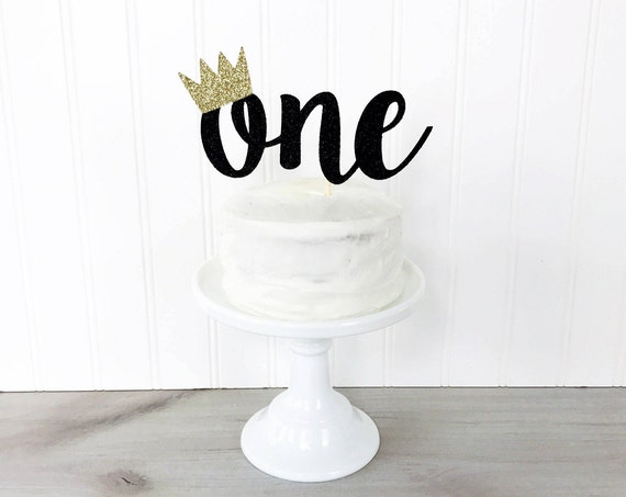 One Cake Topper With Crown