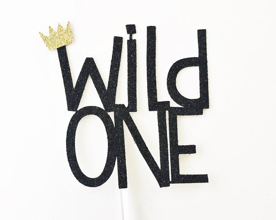 Wild One Cake Topper | Where The Wild Things Are | First Birthday Smash Cake Topper | Baby Boy 1st Birthday | Wild One First Birthday Party