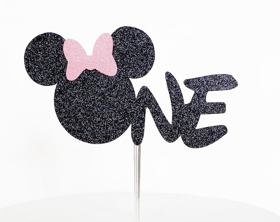 Minnie Mouse One Cake Topper | First Birthday Cake Topper | Minnie Mouse Theme | Smash Cake Topper | Girl First Birthday | 1st Birthday Cake