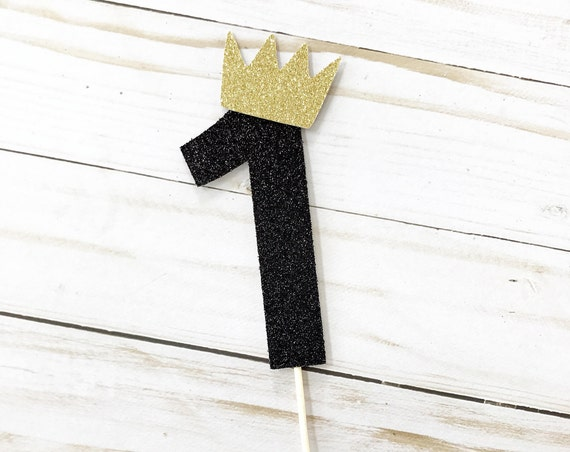 One Cake Topper With Crown / Where The Wild Things Are / Number 1 Cake Topper / One Cake Topper / Cake Smash / First Birthday / Wild One