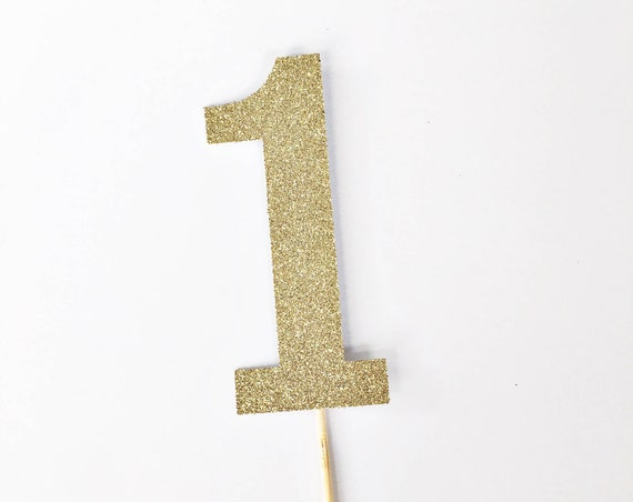 One Cake Topper / Number 1 Topper / First Birthday Topper / Cake Smash Topper / 1st Birthday / Custom Topper / Milestone Birthday / One Year