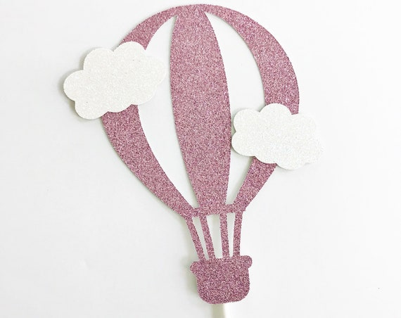 Hot Air Balloon Cake Topper / Up, Up, and Away / Adventure Awaits Baby Shower / Oh The Places You'll Go Baby Shower / First Birthday
