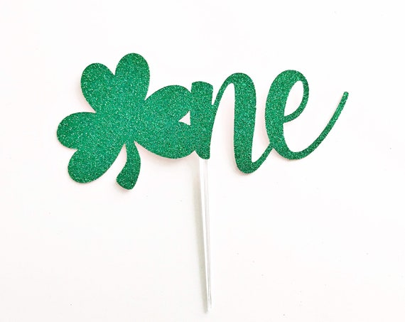 Shamrock One Cake Topper | St Patrick's Day Cake Topper / St Patrick's Day First Birthday / March Birthday / Lucky ONE | Smash Cake Topper