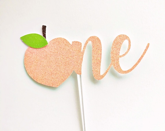 Peach One Cake Topper | Sweet as a Peach | Smash Cake Topper | Just Peachy | Little Sweet One | ONE Sweet Peach | Peach Cake Topper