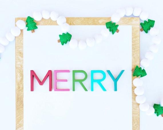 Tree Felt Ball Garland | Christmas Tree Garland | Christmas Decorations | Felt Ball Garland