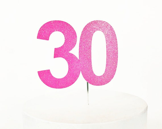 30th Birthday Cake Topper | Flirty 30 | Number 30 Topper | 30th Birthday Celebration | Custom Age Topper | Happy Birthday Cake Topper | 30