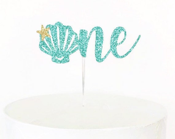 Seashell One Cake Topper
