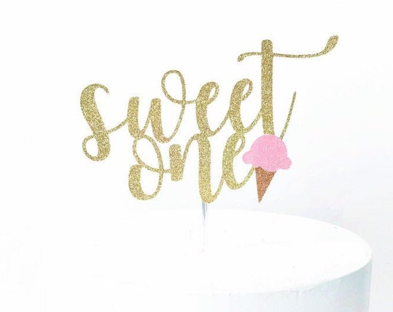 Sweet One Cake Topper
