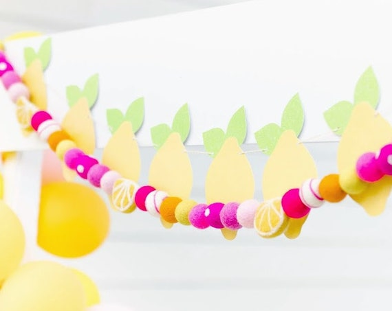 Lemonade Felt Ball Garland