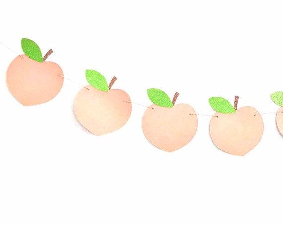 Peach Banner | Sweet as a Peach | Peach Decorations | Just Peachy | Peach Birthday | Peach Garland | Peach Highchair Banner | Sweet One