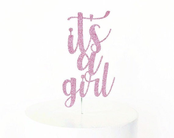 It's A Girl Gender Reveal Cake Topper