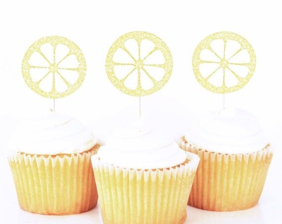 Lemon Cupcake Toppers