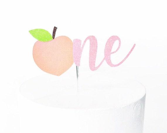 Peach One Cake Topper | Sweet as a Peach | Smash Cake Topper | Just Peachy | Little Sweet One | Peach Decorations | Peach Party