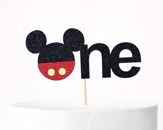 Mickey Mouse First Birthday Cake Topper / Mickey Mouse Clubhouse 1st Birthday Party / Mickey Mouse Smash Cake Topper / One Year Old