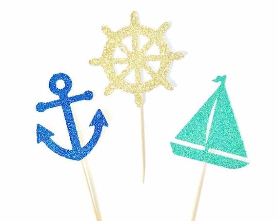 Nautical Cupcake Toppers