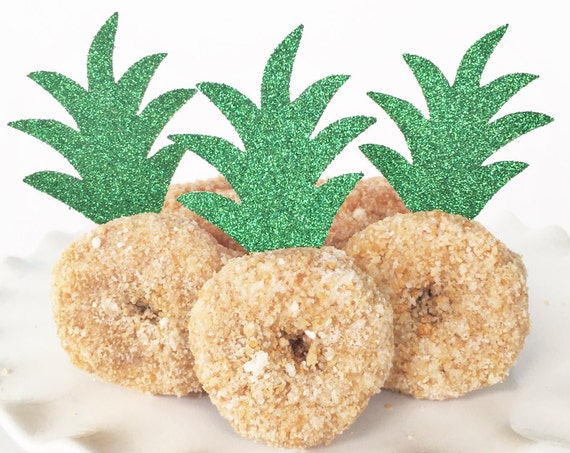 Pineapple Donut Toppers for Mini Donuts or Cupcakes