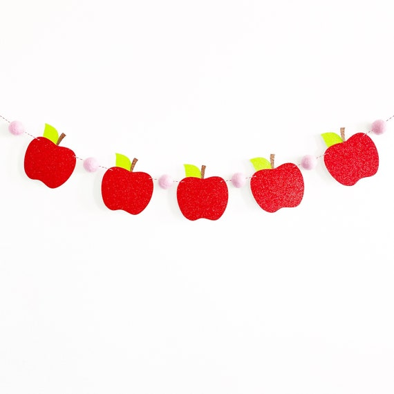 First Day of School Apple Banner