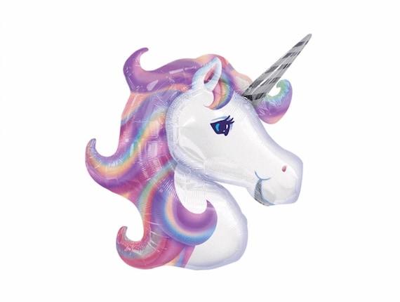 Unicorn Balloon / Unicorn Foil Balloon / Unicorn Decorations / Unicorn Birthday Party / Rainbows and Unicorns / Inflatable Unicorn / Mylar