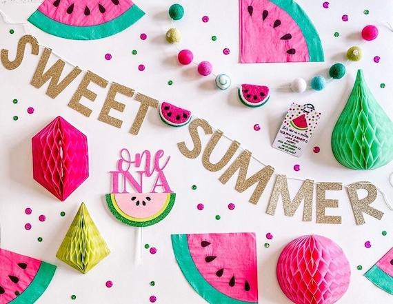 Sweet Summer Banner with Felt Watermelon