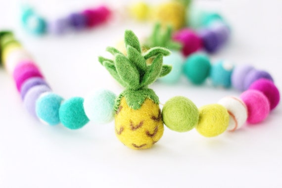 Pineapple Felt Ball Garland
