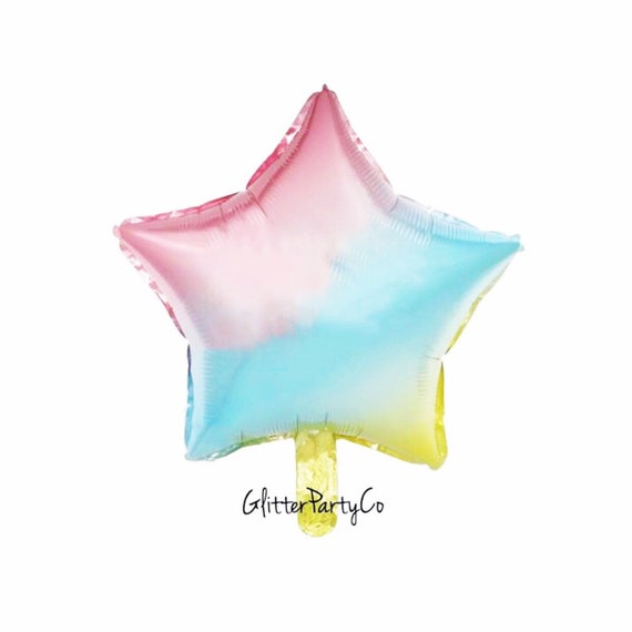 Rainbow Star Balloon | Ombre Star Balloon | Two The Moon | Space Birthday | Star Birthday Balloon | Happy Birthday Balloon | Foil Rainbow