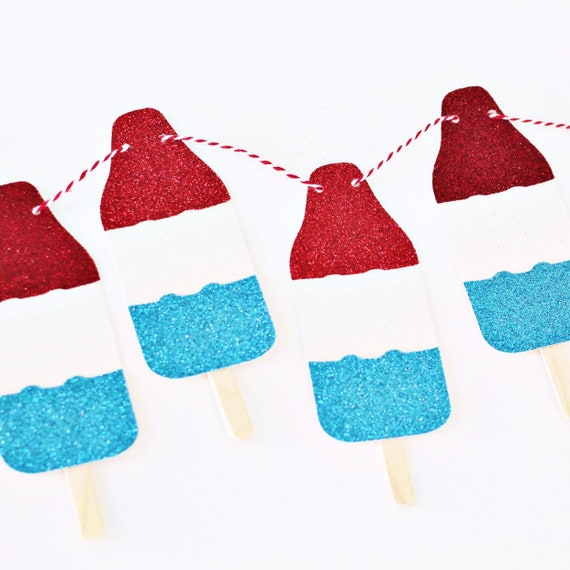 Bomb Pop Banner | 4th of July Banner | Fourth of July | Red White & Blue | 4th of July Decorations | Little Firecracker