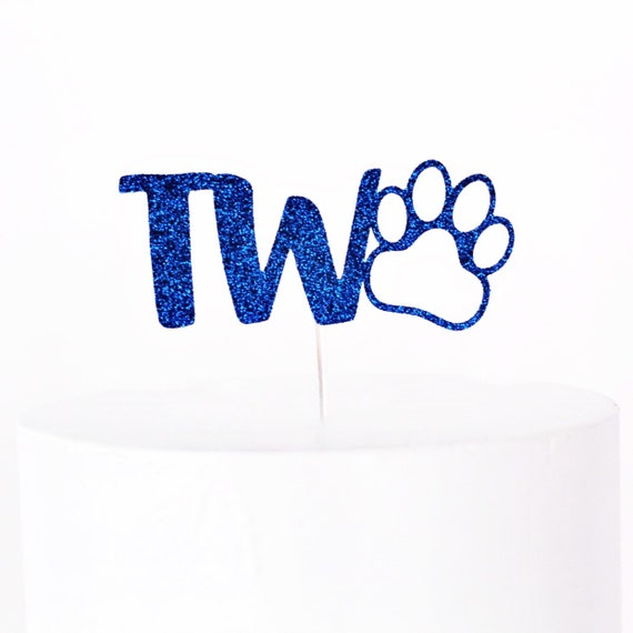 Paw Print Cake Topper | Two Cake Topper | 2nd Birthday Cake Topper | Puppy Party | Dog Birthday | Puppy Birthday | Smash Cake Topper