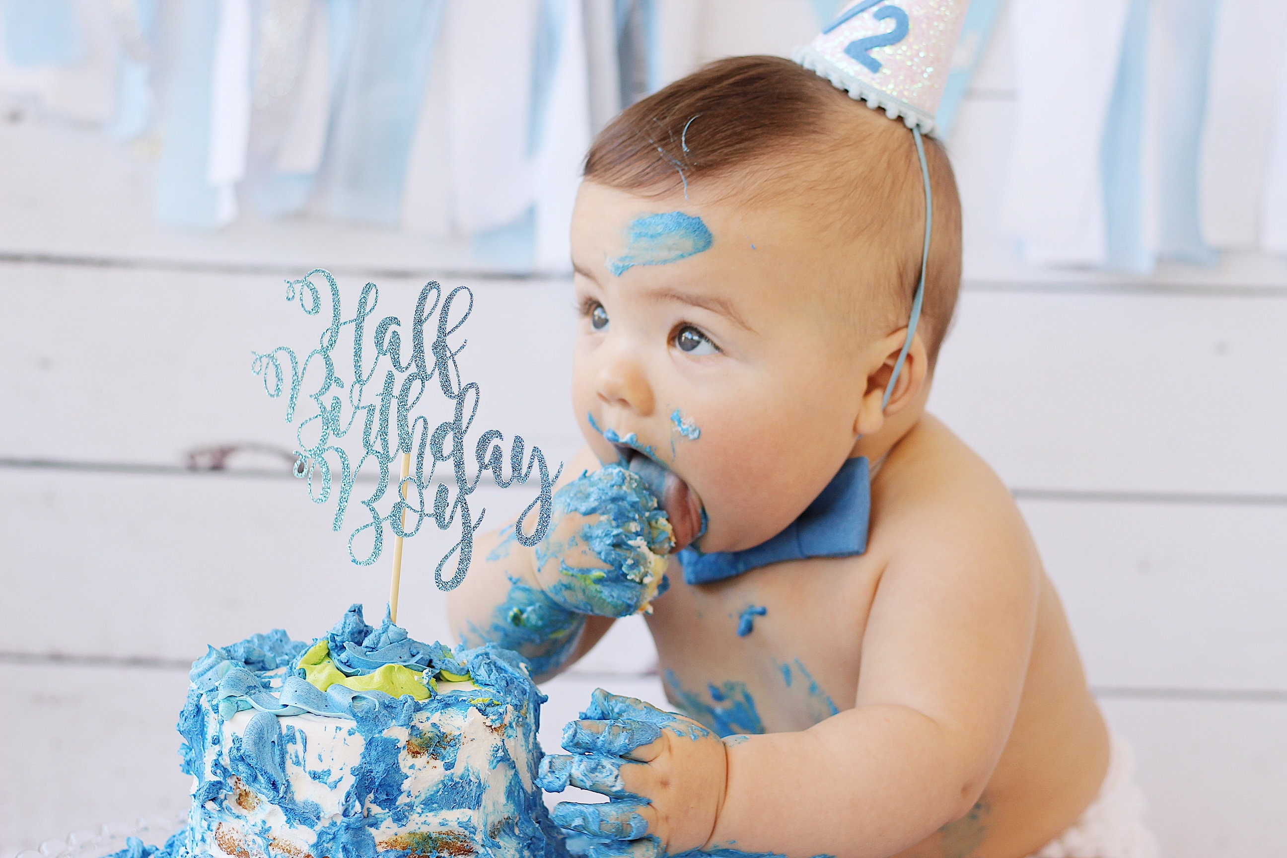 Half Birthday Boy Cake Topper 6 Months