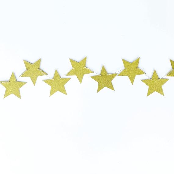 Star Banner | Star Garland | Glitter Cardstock Star Banner | Star Decorations | Fall Banner | Fall Home Decor
