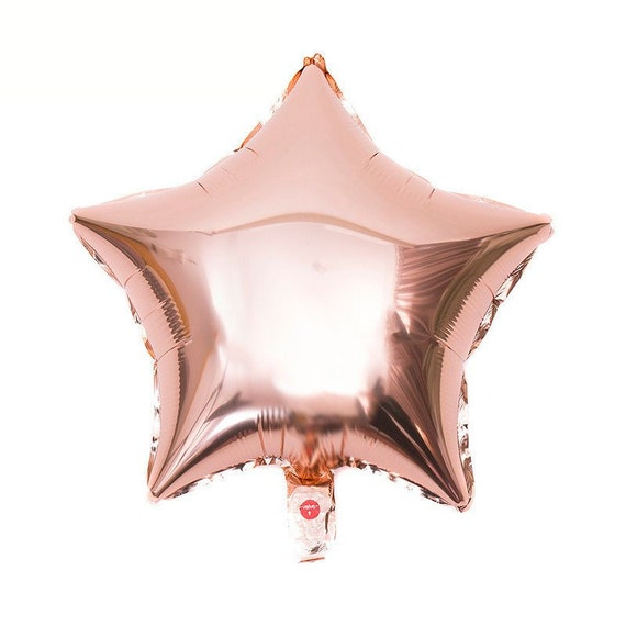 Rose Gold Star Balloons / Foil Star Balloons / First Birthday Balloon / 1st Birthday / Bridal Shower / Baby Shower / Helium Balloon
