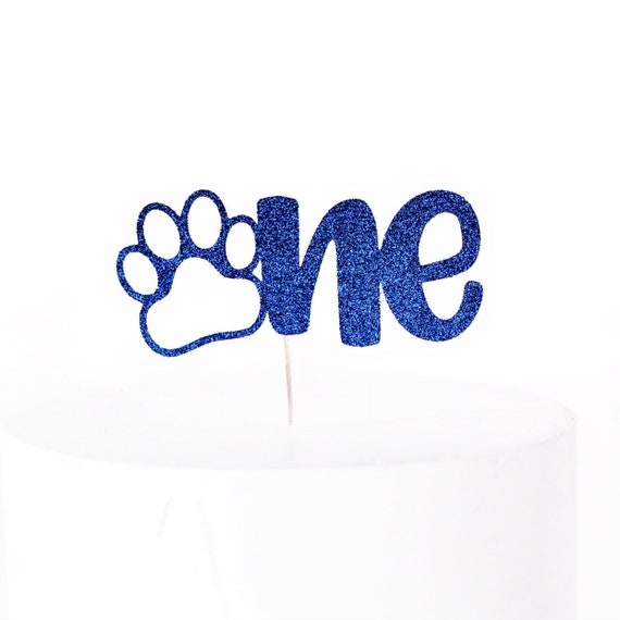 Paw Print Cake Topper | One Cake Topper | 1st Birthday Cake Topper | Puppy Party | Dog Birthday | Puppy Birthday | Smash Cake Topper