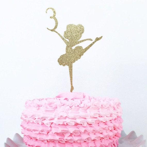 ballerina cake topper custom age cake topper personalized etsy