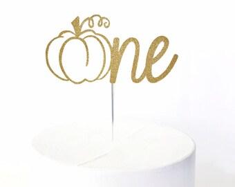 Pumpkin One Cake Topper | Little Pumpkin First Birthday | Fall 1st Birthday | Smash Cake Topper | Number One Cake Topper | 1 Year Old
