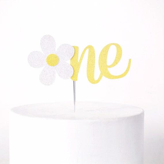 Daisy One Cake Topper | First Birthday Smash Cake Topper | Daisy Birthday Decorations | Flower Child | 1st Birthday | Flower Cake Topper